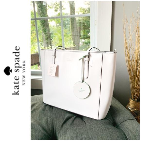 kate spade Handbags - NWT Kate Spade genuine leather tote white